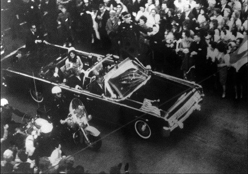 Warren Commission is an overhead view of President John F. Kennedy's car in Dallas motorcade on Nov. 22, 1963.