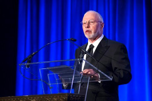 File-This May 12, 2014, file photo shows Paul Singer, founder and CEO of hedge fund Elliott Management Corporation, speaking at the Manhattan Institute for Policy Research Alexander Hamilton Award Dinner, in New York. (AP Photo/John Minchillo, File)