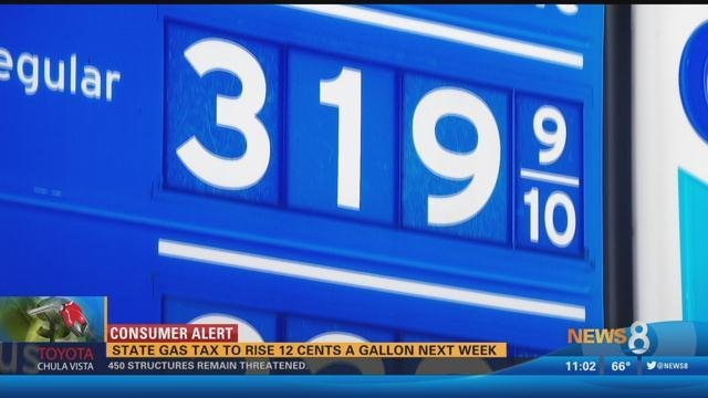 Gas Tax Goes Up 12 Cents Per Gallon on Wednesday