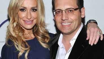 In this Feb. 5,2011 file photo, television personality Taylor Armstrong, left, and husband Russell Armstrong attend a Super Bowl party in Dallas, Texas. (AP Photo/Evan Agostini,File)