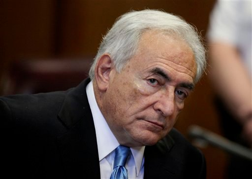 FILE - In this July 1, 2011 file photo, former International Monetary Fund leader Dominique Strauss-Kahn listens to proceedings in New York State Supreme court in New York.
