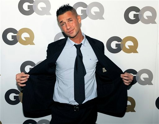 """FILE - In this Nov. 17, 2010 photo, Mike """"The Situation"""" Sorrentino poses at GQ magazine's 2010 """"Men of the Year"""" party in Los Angeles."""