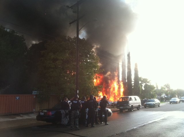 Viewer-submitted photo of fire on Prince St.