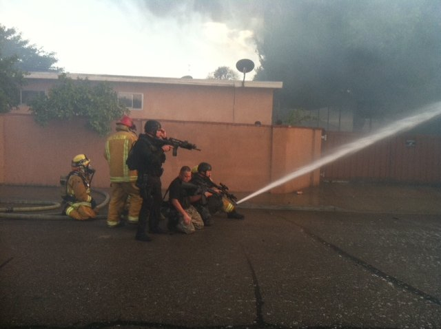 Viewer-submitted photo of fire crews on Prince St.