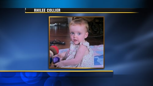 Suspect Kevin Collier's 14-month-old daughter was discovered dead inside his work truck.