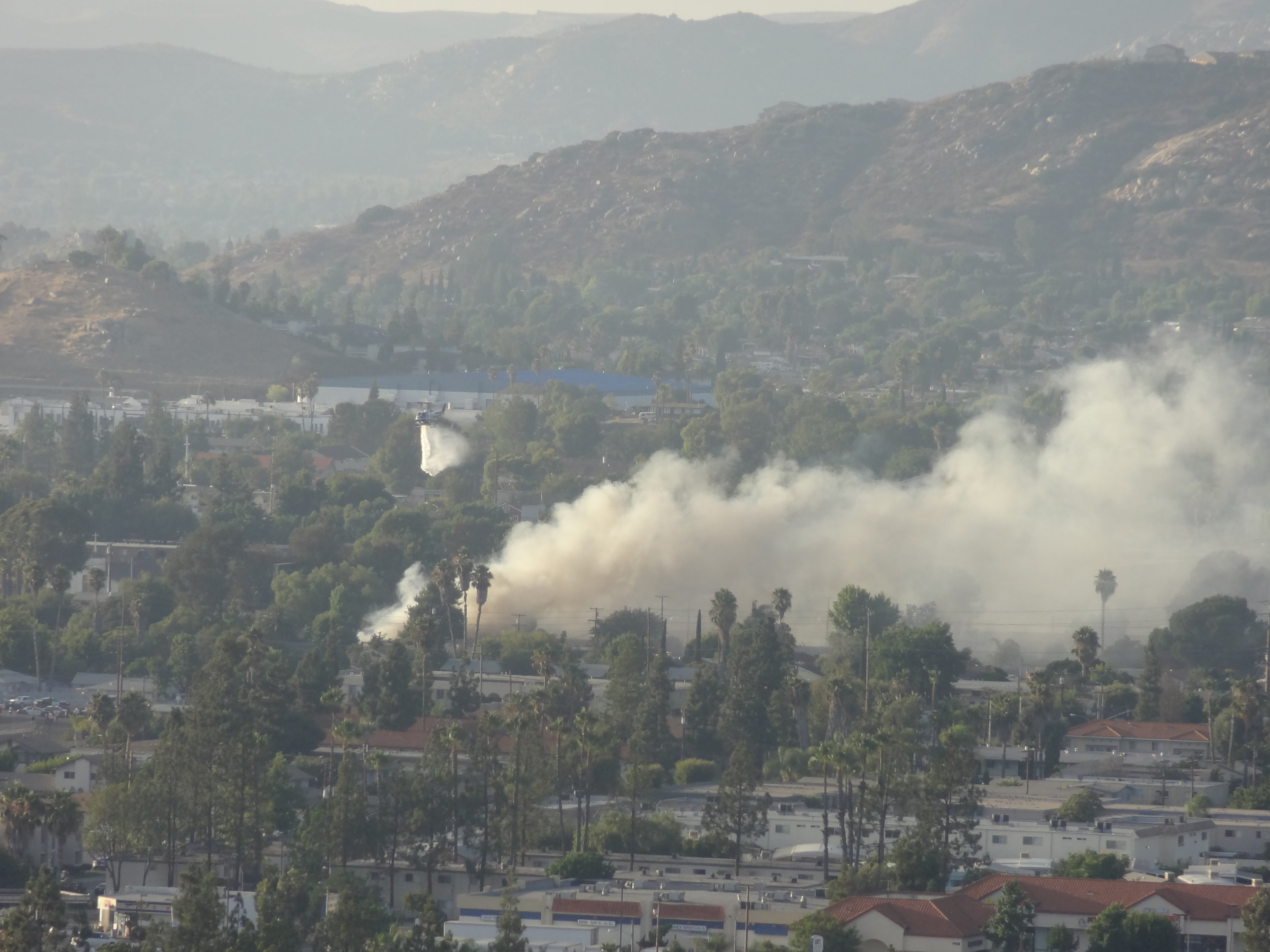 "Shooting north from Merritt Drive.  Courtesy of viewer, ""MB"" from CBS 8 ""Your Stories""."