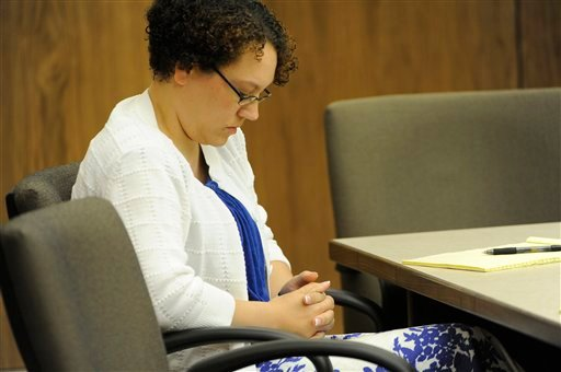 Jessica Beagley appears in court on the first day of her trial in Anchorage, Alaska, on Wednesday, Aug. 17, 2011.