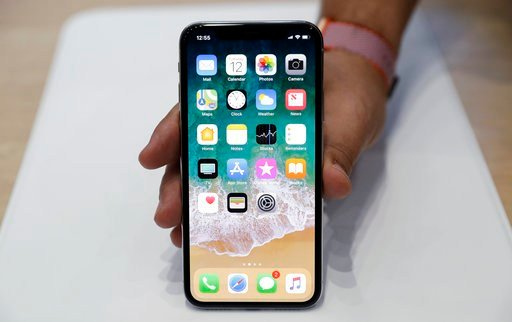 Face ID, Apple's name for its facial-recognition technology, replaces the fingerprint sensor found on other models. (AP Photo/Marcio Jose Sanchez, File)