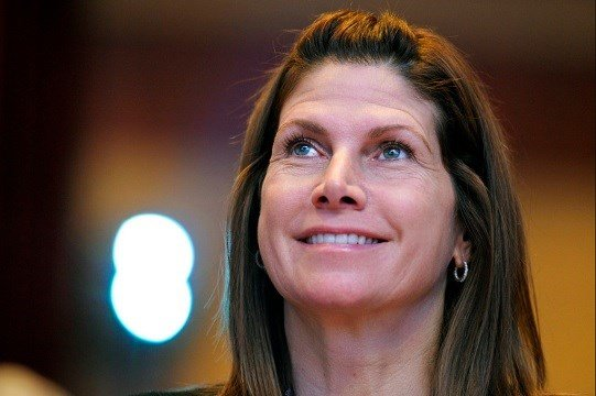 Feb. 12, 2011, file photo, then-Rep. Mary Bono, R-Calif., listens at the Conservative Political Action Conference (CPAC) in Washington.