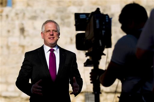 Conservative Christian TV commentator Glenn Beck speaks during a rally in Jerusalem's Old City, Wednesday, Aug. 24, 2011.
