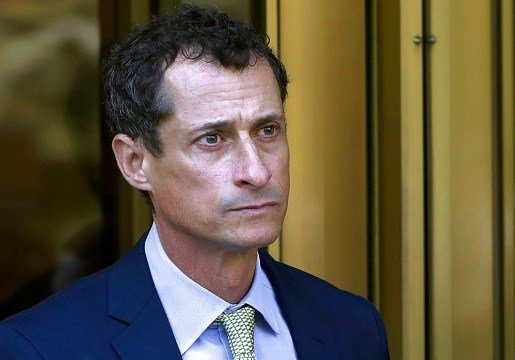 Former Congressman Anthony Weiner leaves federal court following his sentencing in New York.