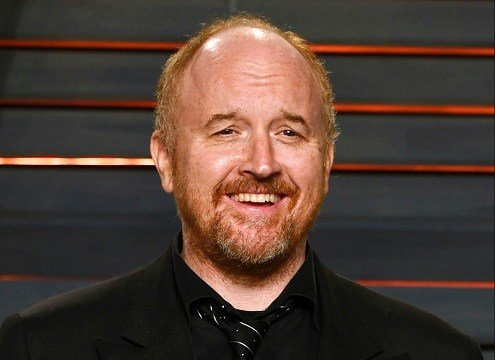Louis C.K. arrives at the Vanity Fair Oscar Party in Beverly Hills, Calif.