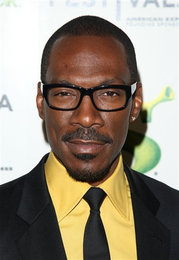 """FILE - In this April 21, 2010 file photo, actor Eddie Murphy attends the premiere of """"Shrek Forever After"""" during the 2010 Tribeca Film Festival in New York. Murphy will host this year's Academy Awards show on Sunday, Feb. 26, 2012."""