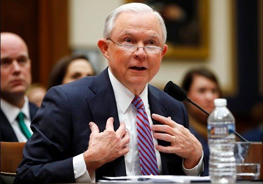 Attorney General Jeff Sessions speaks during a House Judiciary Committee hearing on Capitol Hill.