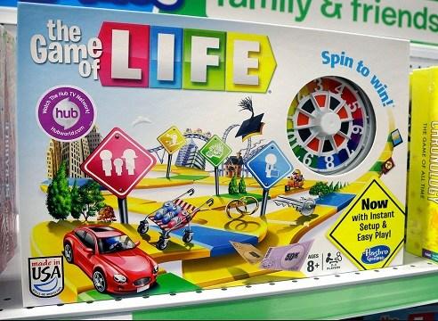 "Hasbro board game ""The Game of Life"""