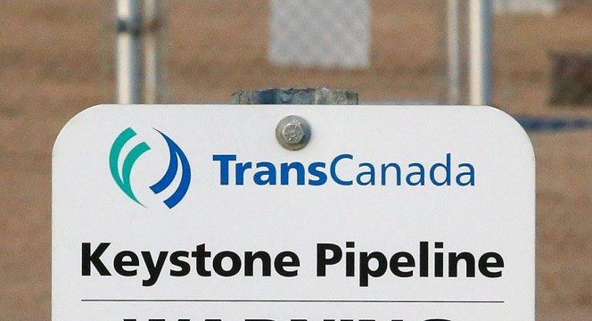 TransCanada's Keystone pipeline facilities in Hardisty, Alberta, Canada.