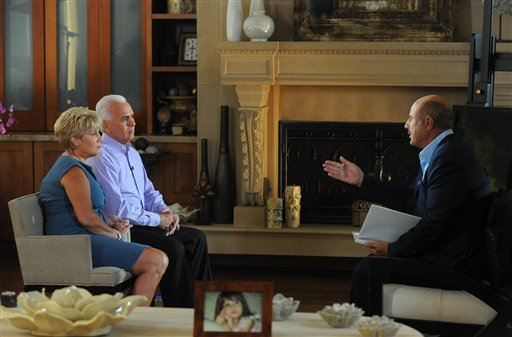"""In this Aug. 3, 2011, image released by CBS Television Distribution, from left, Cindy Anthony and George Anthony, parents of 25-year-old Casey Anthony, are shown during an interview with Dr. Phil McGraw of the """"Dr. Phil"""" show, in Los Angeles."""