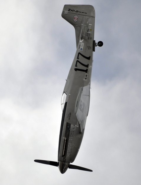 "A P-51 Mustang airplane is shown right before crashing at the Reno Air show on Friday, Sept. 16, 2011 in Reno Nevada. The plane plunged into the stands at the event in what an official described as a ""mass casualty situation."" (AP photo)"