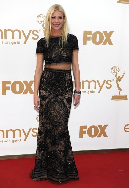 1.       Gwyneth Paltrow arrives at the 63rd Primetime Emmy Awards on Sunday, Sept. 18, 2011 in Los Angeles. (AP Photo/Chris Pizzello)
