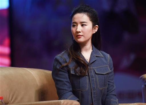 Chinese actress Liu Yifei attends a promotional event for her movie ''The Chinese Widow'' at Zhejiang University in Hangzhou city, east China's Zhejiang province, 11 November 2017.