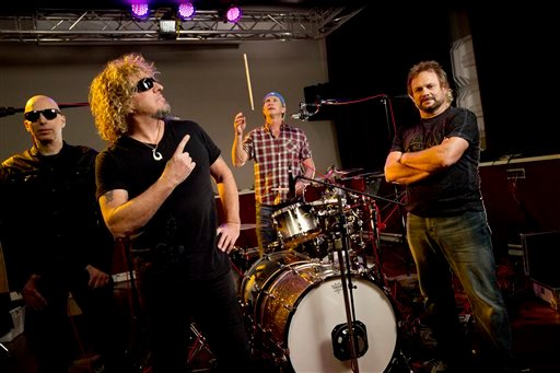 """Hagar, the former Van Halen frontman, guitar legend Joe Satriani, Red Hot Chili Peppers drummer Chad Smith and former Van Halen bassist Michael Anthony skipped calling the follow-up to their 2009 debut """"Chickenfoot II"""" and dubbed it """"Chickenfoot III"""" (AP)"""