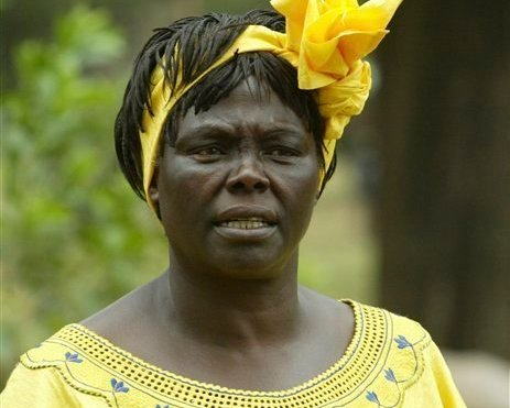 In this file photo of Aug. 28, 2006 Wangari Maathai, Noble Peace Laureate and conservation heroine, is seen in Nairobi, Kenya. (AP)