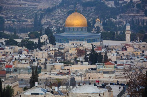 A view of Jerusalem's old city is seen Tuesday, Dec. 5, 2017. Trump's point-man on the Middle East, son-in-law Jared Kushner, later said the president hasn't decided yet what steps to take. (AP Photo/Oded Balilty)