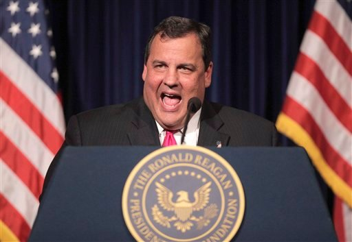 FILE - In this Sept. 27, 2011 file photo, New Jersey Gov. Chris Christie speaks at the Ronald Reagan Presidential Library in Simi Valley, Calif.