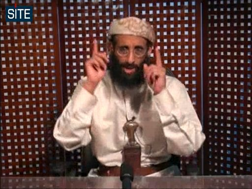 FILE - In this Nov. 8, 2010 file image taken from video and released by SITE Intelligence Group on Monday, Anwar al-Awlaki speaks in a video message posted on radical websites.