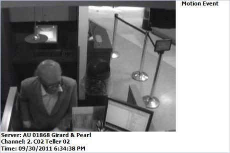 Surveillance photo of bank robber