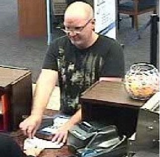 """This is a still from surveillance video of the """"Magoo Bandit"""" at the Chase Bank in Camarillo on September 27, 2011."""