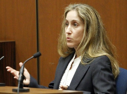 Dr. Richelle Cooper, emergency room physician testifies during the Conrad Murray involuntary manslaughter trial in downtown Los Angeles, Friday, Sept. 30, 2011.