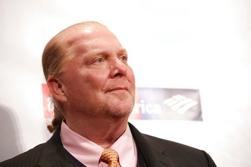 Chef Mario Batali attends the Food Bank for New York City Can-Do Awards at Cipriani Wall Street on Wednesday, April 19, 2017, in New York.