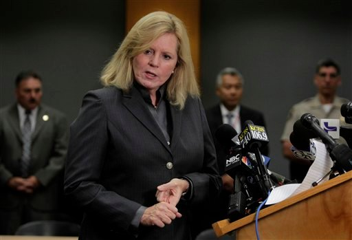 Santa Clara County Sheriff Laurie Smith details the shooting death of shooting suspect Shareef Allman by deputies on routine patrol in a Sunnyvale, Calif. neighborhood on Thursday, Oct. 6, 2011, in Sunnyvale.