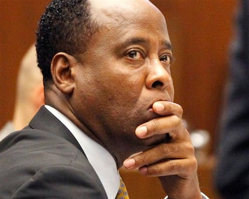 Dr. Conrad Murray sits in court during his trial in the death of pop star Michael Jackson, Friday, Oct. 7, 2011 in Los Angeles.