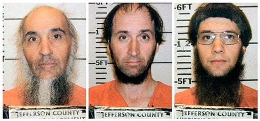This combo made from photos provided by the Jefferson County Sheriffs Department shows, from left, Levi Miller, Johnny Mullet, and Lester Mullet, of Bergholz, Ohio. (AP)