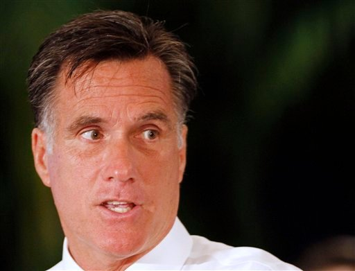 Republican presidential candidate, former Massachusetts Gov. Mitt Romney talks during a town hall meeting in Miami, Wednesday, Sept. 21, 2011.