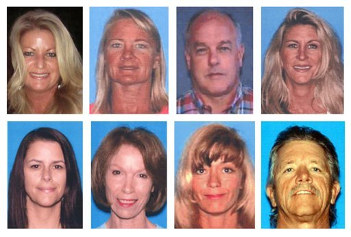 This photo combo shows the people who were killed during a shooting at a salon at Seal Beach, Calif., on Wednesday, Oct. 12, 2011.