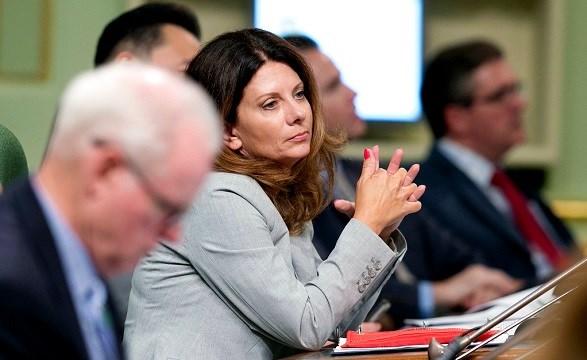 Assemblywoman Melissa Melendez, R-Lake Elsinore, sits at the Capitol in Sacramento, Calif.