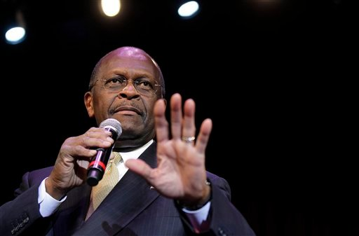 Republican presidential candidate Herman Cain delivers a keynote address during the Western Republican Leadership Conference Wednesday, Oct. 19, 2011, in Las Vegas.