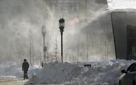 'Bomb cyclone' drops on region