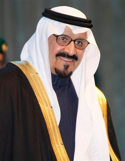 In this Sunday, Nov. 16, 2008 file photo, Saudi Arabia's Crown Prince Sultan bin Abdel Aziz arrives at the awards ceremony of the Prince Sultan bin Abdul Aziz al-Saud International Prize at King Fahd Cultural center.