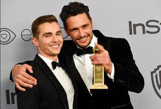 Dave Franco, left, poses with James Franco.