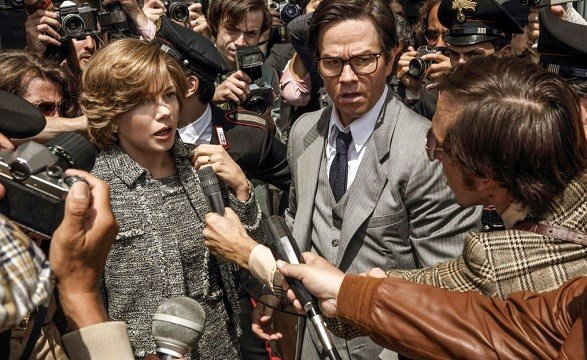 "Sony Pictures shows Michelle Williams, left, and Mark Wahlberg in TriStar Pictures' ""All The Money in the World."""