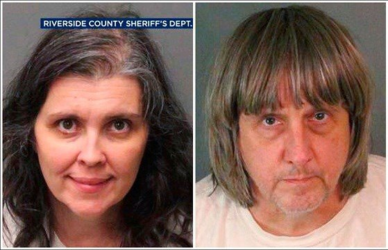 Riverside County Sheriff's Department show Louise Anna Turpin, left, and David Allen Turpin.