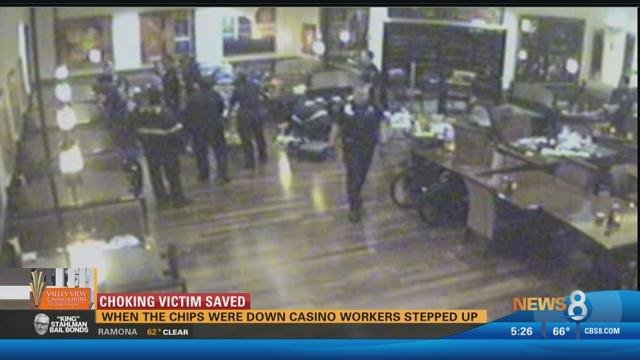 Chocking Victim Saved: When the chips were down casino workers stepped up