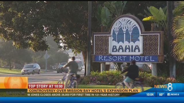 Controversy over Mission Bay hotel's expansion plan