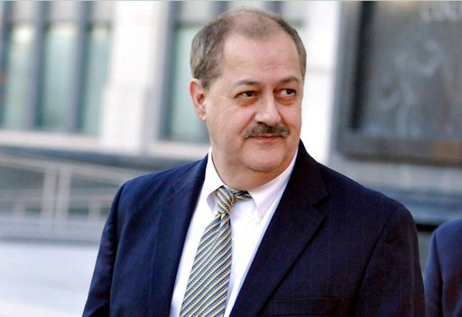 FILE - In this Nov. 24, 2015, file photo, former Massey Energy CEO Don Blankenship walks out of the Robert C. Byrd U.S. Courthouse after the jury deliberated for a fifth full day in his trial in Charleston, W.Va.