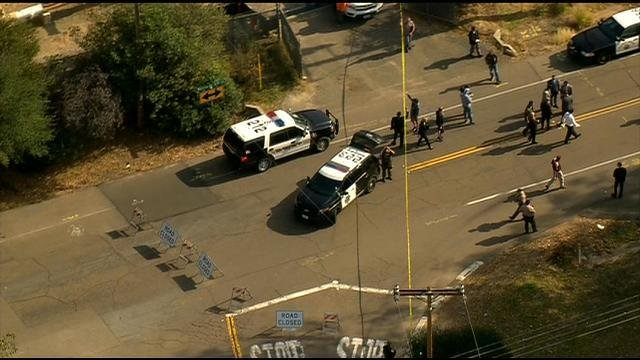 Officer-involved shooting at the Riverside-San Diego county line, no one injured
