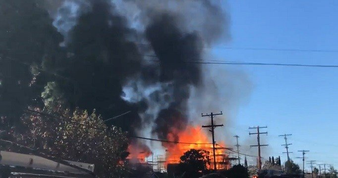 Firefighters knock down 3-alarm structure fire in Rolando